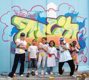 Lehreinheit, Workshop, Graffiti, Schule, Klangbild